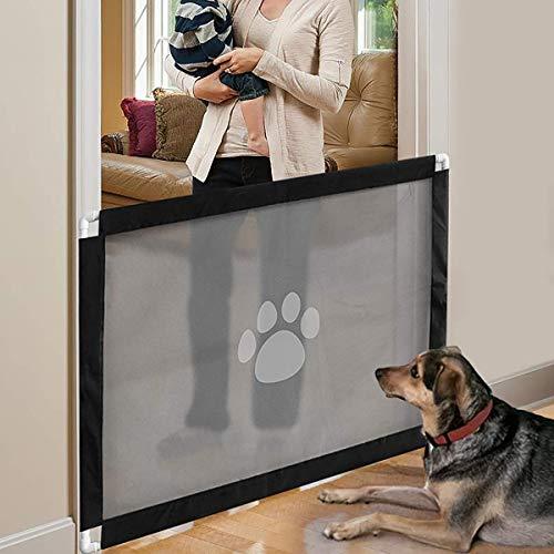 """iPawde Magic Gate para Perros, Caja de Seguridad para Perros, fácil de Instalar y Seguro con Cerradura. Mantenga a los Perros alejados de la Cocina/en el Piso de Arriba, 31.5""""* 39.3"""""""