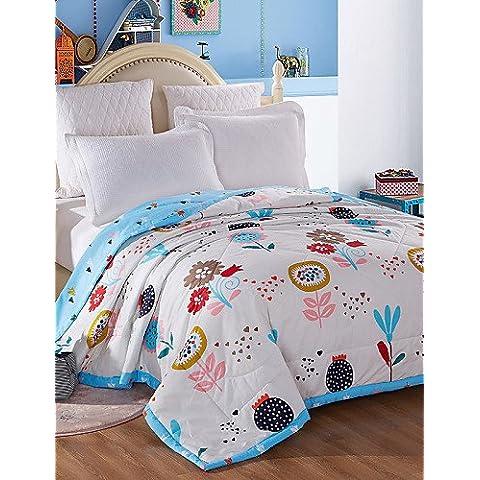 YangR*Estate Fresca aria condizionata Cotone Cotone Quilt Quilt Quilt estivo ampio set di biancheria da letto ,