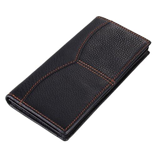 Everdoss Hommes sac à main en cuir portemonnaie portefeuille sac de cartes sacoche
