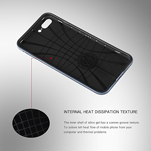 Custodia Iphone 7Plus, ambercase [shock-absorción] Premium Iphone 7Plus custodia cover case flessibile TPU Slim Silicone Case Cover Per Apple iPhone 7Plus blu