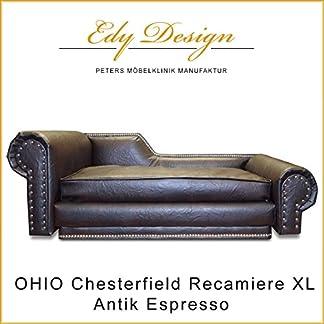XL Dog Ohio Chaise Lounge Sofa Chesterfield Orthopaedic Mattress Handmade in Germany 4