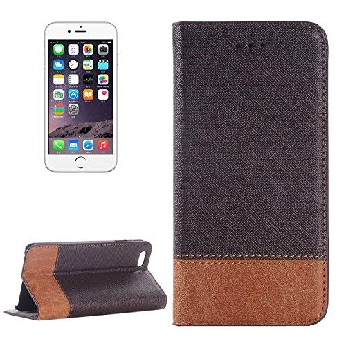 wkae Schutzhülle Fall & Hohe Qualität Cross Texture Leder Case mit Halter & CardSlots & walletfor iPhone 6& 6S Brown