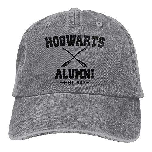 wwoman Vintage Cotton Denim Cap Baseball Mütze Hogwarts Alumni Six-Panel einstellbar...