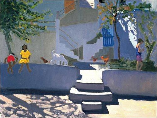 Posterlounge Holzbild 130 x 100 cm: Das gelbe Kleid, Kos von Andrew Macara/Bridgeman Images