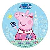 NUOVO Peppa Pig 20cm Zucchero Disco Topper Per Torte