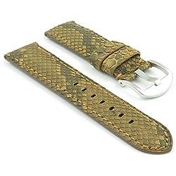 DASSARI Outlaw Tan Python Genuine Snake Skin panerai Style Watch Band size 24mm
