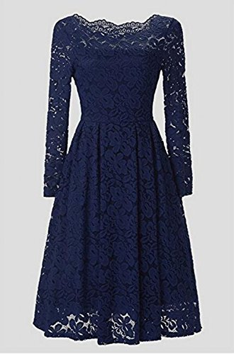 Leader of the Beauty Damen Kleid Marineblau