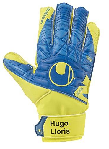 Uhlsport Gants de gardien de but Speed Up Lioris Soft pour homme., Homme, Speed Up Lloris Soft Advanced, hydro blau/Lite fluo gelb