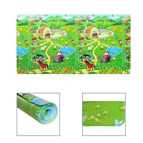 Homcom - Tappetino Gioco Morbido Pratico con Animali per Bambini 180 x 130 x 1.2cm Colori Assortiti