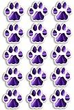 Feuille A415x Violet Motif pattes de chat stickers muraux en vinyle Animaux pour...