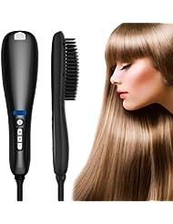 Haarglätter Bürste, Toyuugo Keramische Glättbürste Spray Heizung stylingbürste, mit Ionen-Technologie,LCD Anzeige mit Dampffunktion