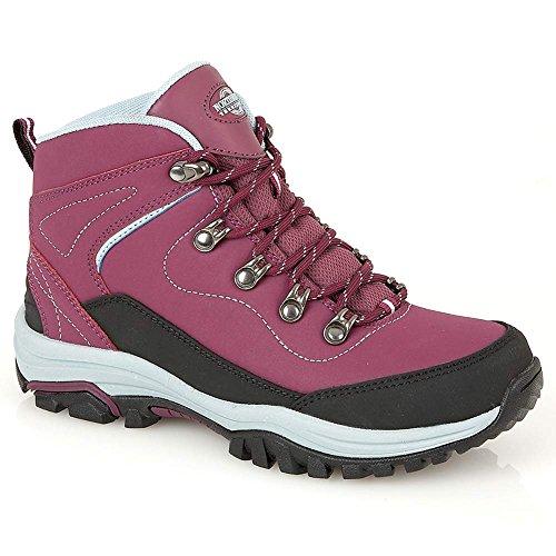 51Zq14c6iHL. SS500  - Northwest Territory Ladies Leather Lightweight Waterproof Walking Hiking Trekking Comfort Memory Foam Shoes Size 3 4 5 6…