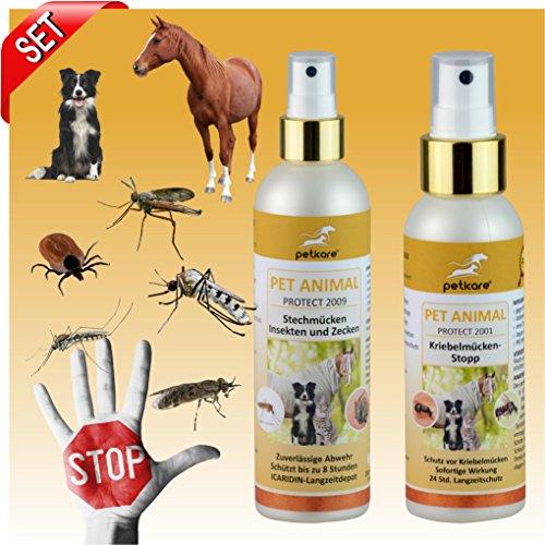 Multi-Repellent - SET Stechmücken + Zecken - Anflugstopp Kriebelmücken und Multi-Repellent Moskito (animal) - Peticare