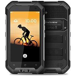 Blackview BV6000 4G Android Dual SIM Smartphone - IP68 étanche à la poussière Antichoc, Octa Core 2.0 GHz 3 Go + 32 Go, 5MP + 13MP, GPS/NFC - Noir