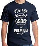30 Geburtstag Männer Vintage Premium 1988 T-Shirt