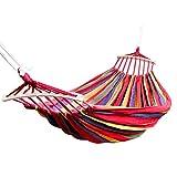 Amaca doppia - Amache portatili leggere per paracadute per escursionismo, viaggio, zaino in spalla, spiaggia, attrezzatura da cantiere Include cinghie in nylon e moschettoni in acciaio
