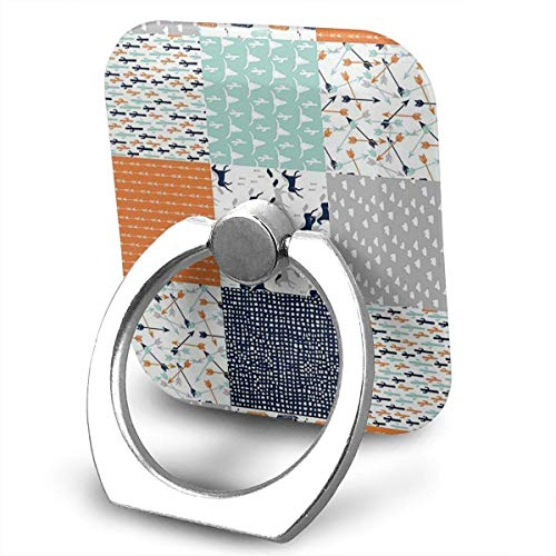 beautiful& Western Cheater Quilt Nursery Baby Cell Phone Ring Holder, Finger Grip Stand Holder,360 Degrees Rotation,Compatible with iPhone,Samsung,Phone Case,etc Western Quilt