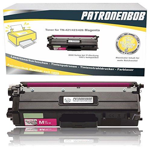 Patronenbob® XL Magenta Toner kompatibel TN-421 / TN-423 für Brother DCP-L8410CDW, HL-L8260CDW, HL-L8360CDW, MFC-L8690CDW, MFC-L8900CDW, TN421, TN425