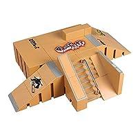 OurKosmos®  8pcs Skate Park Kit de piezas de rampa de Tecnología de Cubierta Circuit Board Mini monopatín dedo Fingerboards último Parques (Incluye las Juntas Finger) de OurKosmos