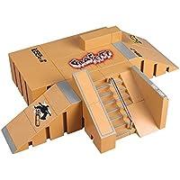 OurKosmos®  8pcs Skate Park Kit de piezas de rampa de Tecnología de Cubierta Circuit Board Mini monopatín dedo Fingerboards último Parques (Incluye las Juntas Finger)