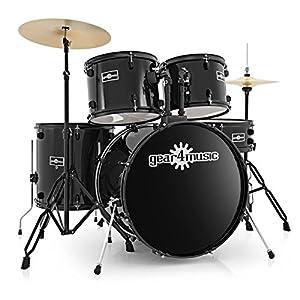 BDK-1 Full Size Starter Drum Kit by Gear4music Black