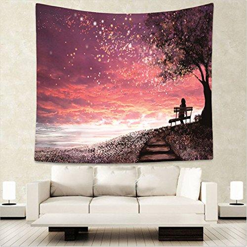 Dudoier Sterne/Mond schöne Nacht Himmel Tapeten Home Dekorationen an der Wand hängende Wald Sternenhimmel Wandteppiche für Wohnzimmer Schlafzimmer