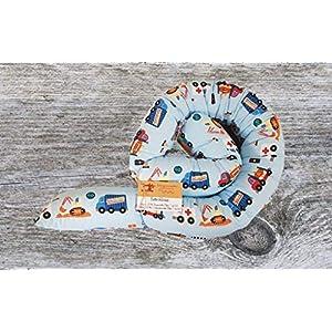 Bettschlange, Autos, Bagger, Flugzeuge, 150cm bis 300cm wählbar, Handmade, ÖKO-TEX® Standard 100 zertifizierte Materialien, 100% Made in Germany