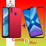 Goelectro Honor 8X Cases Accessories (Combo Offer) 360 Degree Protection 4 Cut Hard Back Cover New For Honor 8X + Edge To Edge Honor 8X Tempered Gorilla Glass Combo Screen Guard (Red)