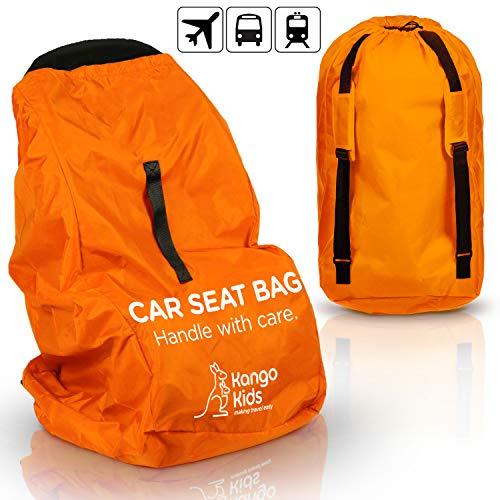 KangoKids Kindersitz Tasche - VERBESSERTE VERARBEITUNG - Robuste Kindersitz Transporttasche - Schutz vor Keimen und Schäden. Transportable Reisetasche für Autositz - Passt auf die meisten Marken
