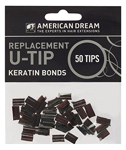 American Dream Paquet de 50 Capsules de Remplacement à la Kératine pour Extensions Pré-soudées Noir