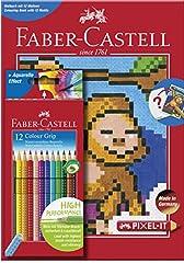 Idea Regalo - Faber-Castell 201571pixel-it libro da colorare con 12matita Grip colore