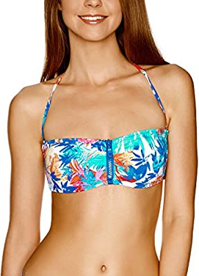 oodji Ultra Mujer Sujetador Bikini Bandeau (sin Tirantes)