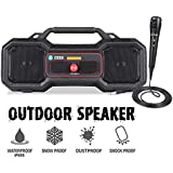 Zoook Rocker Thunder Stone 24Watt Rugged Waterproof Boombox Bluetooth Party Speaker with a Microphone for Karaoke