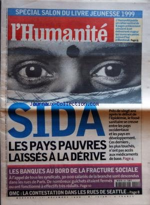 HUMANITE (L') [No 17198] du 01/12/1999