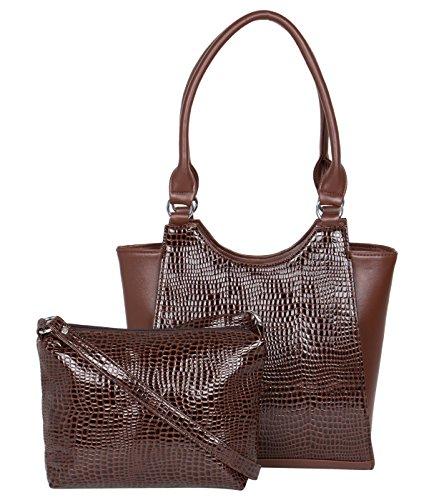 ADISA AD4006 brown women handbag with sling bag
