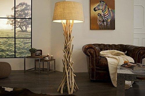 DuNord Design Stehlampe Stehleuchte DRIFTWOOD 155cm sand Design Treibholz Schwemmholz Lampe - Design-stehlampe