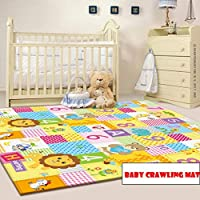 Baby Play Mat Large Reversible Playmat Infant Blanket Crawling Mat 200 * 180cm Baby Playmats for Playing or Crawling Blanket Yoga Mat Camping Mat Bedroom Living Room Plush Carpet Area Rugs