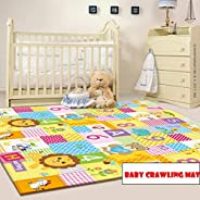Baby Play Mat Large Reversible Playmat Infant Blanket Crawling Mat 200 * 180cm Baby Playmats for Playing or Cr