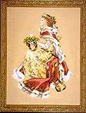 Esquema de punto de cruz. Fiestas Reales