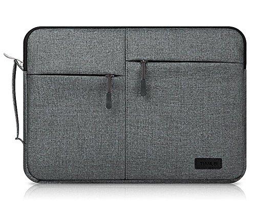 Premium Leinwand Busniess Reißverschluss mit Sleeve Tasche zwei -