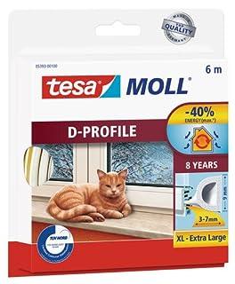TESA 05393-00100-00 Burlete de caucho perfil D, 6 m x 9 mm, color blanco, not_applicable, No No aplica (B0024NKDFS)   Amazon Products
