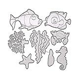 ZANPOON Fustelle Figura della Carte Decorative Bordi Metallici Stencil per Greeting Card Copertura goffratura Stencil Fai da Te Scrapbooking Album (Sea World)