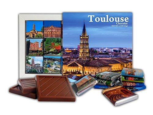 DA CHOCOLAT Candy Souvenir TOULOUSE Set cadeau chocolat 13x13cm 1 boîte (Ciel)
