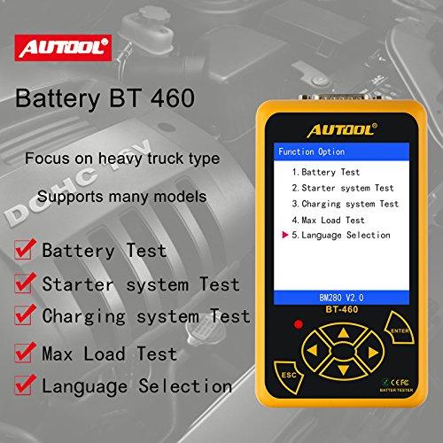 Tester Batteria Auto 12V/24V Digitale Tester Auto Rilevamento di Voltaggio TFT Display da 4 Po