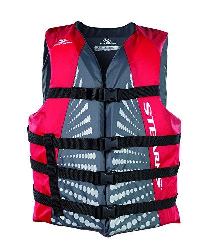 Stearns Erwachsene Schwimmweste Bekleidung, grau/rot, Gr. L