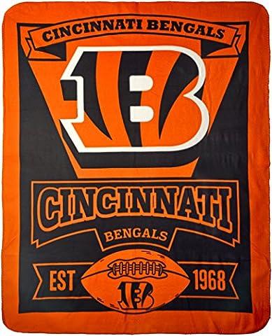 Cincinnati Bengals 50X60 Fleece Blanket - Marque Design