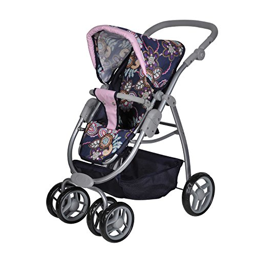 Imagen para Knorrtoys 90778 - Coco, coche de paseo para muñecas convertible, diseño de flores [Importado de Alemania]
