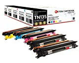 Original Reton Toner, kompatibel, 5er Farbset für Brother TN-135 (TN135BK, TN135C, TN135M, TN135Y), DCP-9045CDN, 9040CDN, HL-4070CDW, 4040CDW, 4070CDS, MFC-9440CN, 9450CDN, 9840CDW