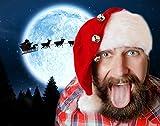 Cultica(R) Santa Claus Nikolausmütze Griswold Style Schöne Bescherung Erwachsenengröße mit 3 Glocken Christmas Vacation perfekt für Moose Mug Elchglas X-Mas