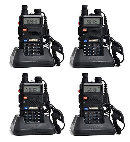 4 X Baofeng UV-5R Walkie Talkie Ricetrasmittente Two Way VHF/UHF Dual Band  Radio